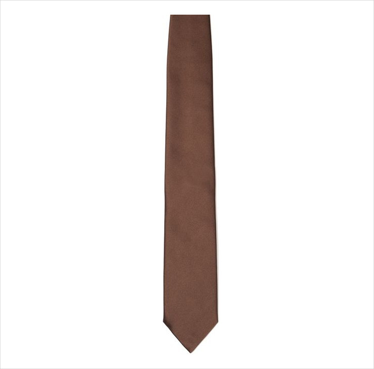 brown silk casual tie for men