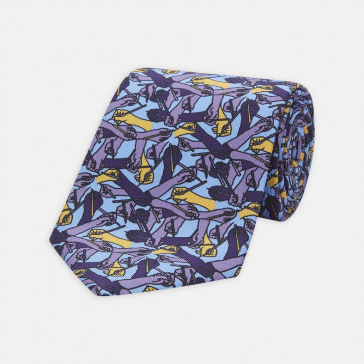 casual printed tie design for men