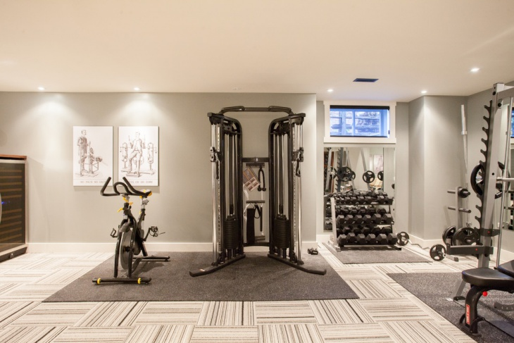 home gym flooring idea