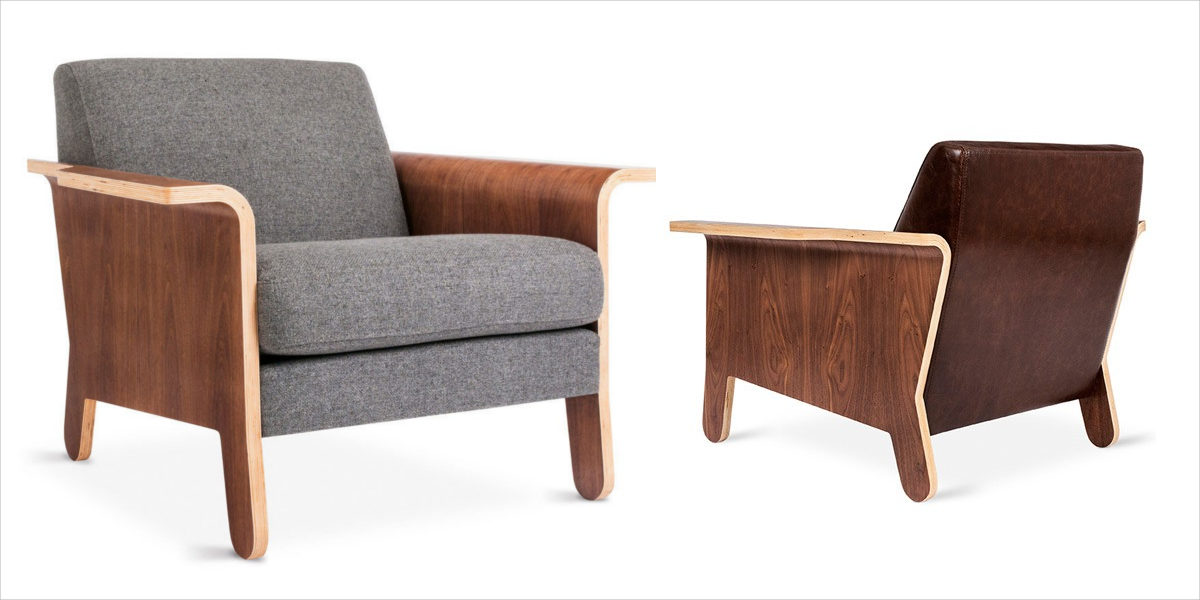 lodge lounge chair from gus modern