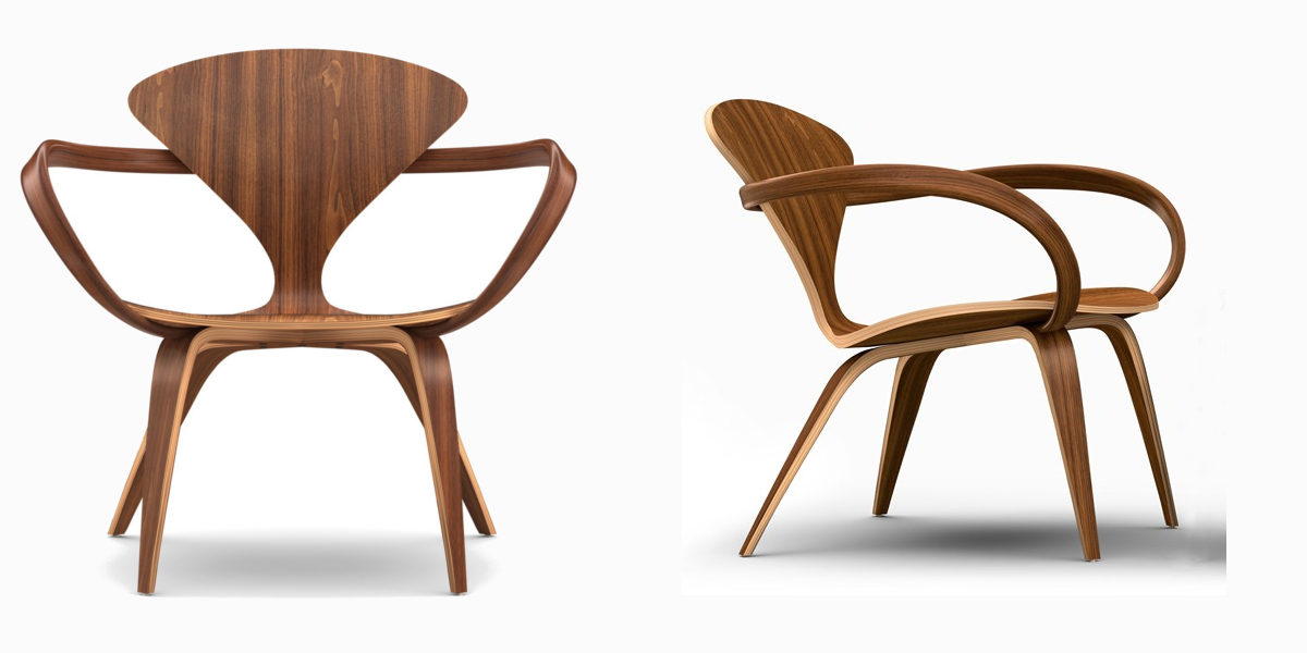 cherner armed lounge chair