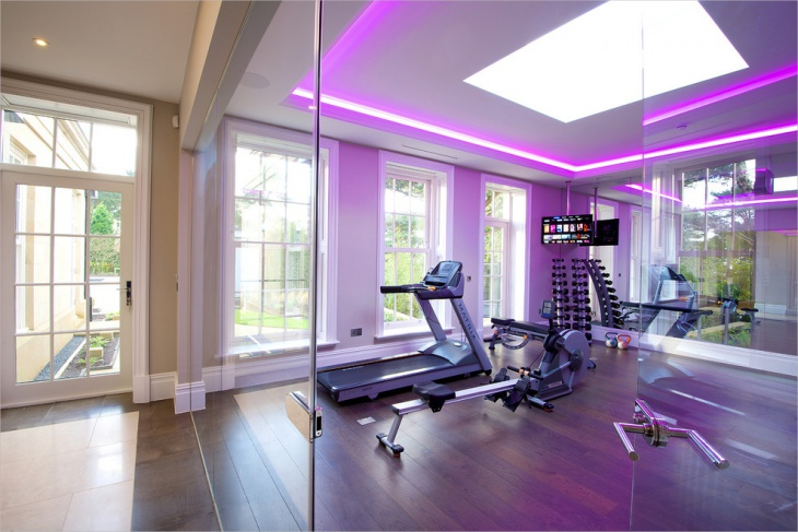 home gym lighting idea
