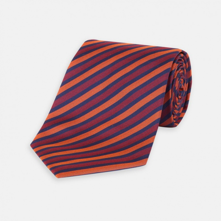 orange striped tie design for men