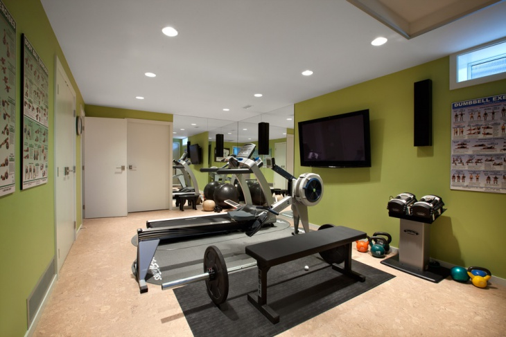 small home gym idea