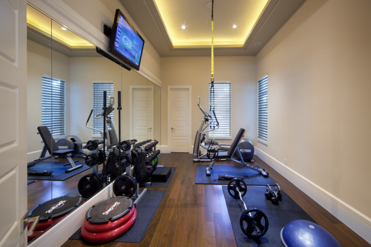 narrow decor gym design