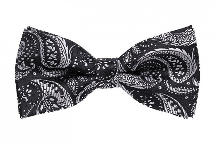 mens paisley bow tie design