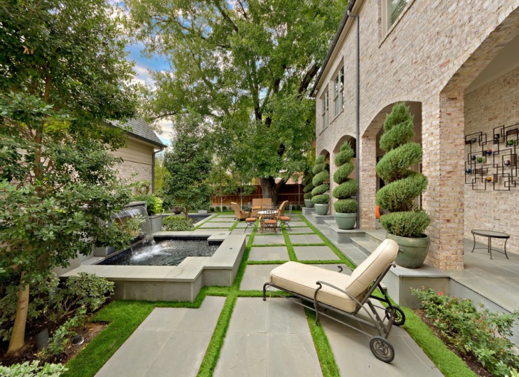rectangular backyard landscape design