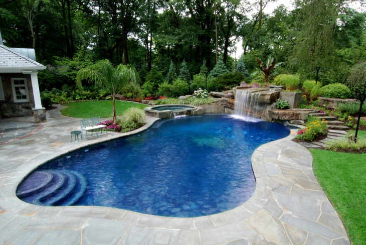 inground pool landscape design
