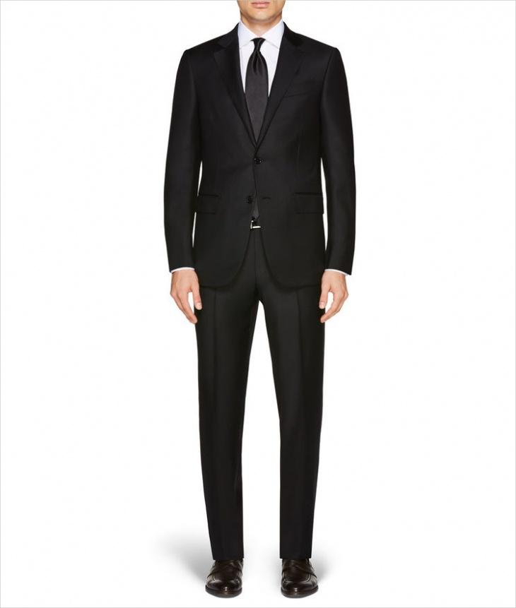 zegna black formal suit design