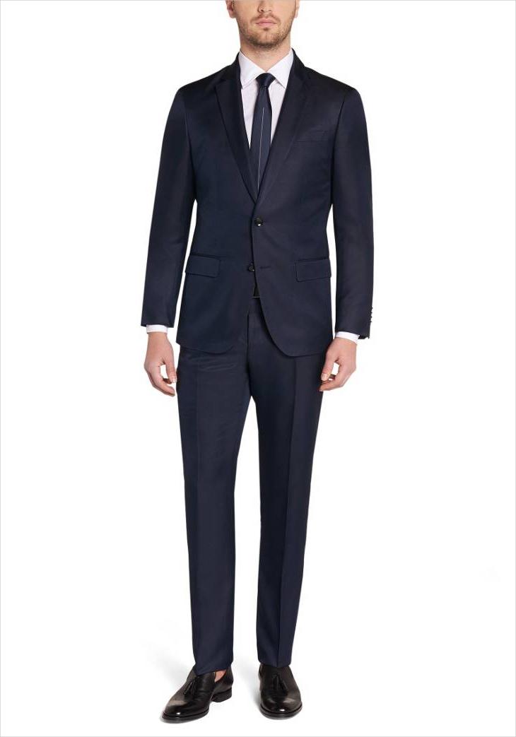 hugoboss blue formal suit design