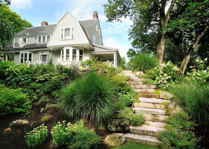 steep hillside landscape design