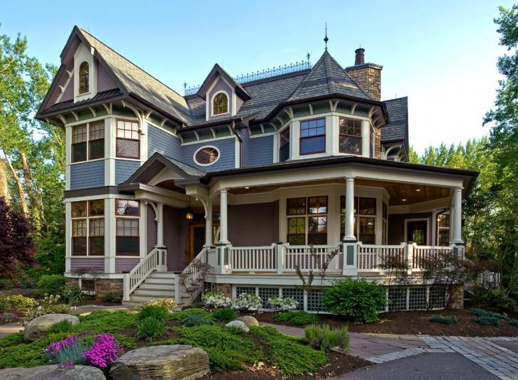 victorian house landscape design