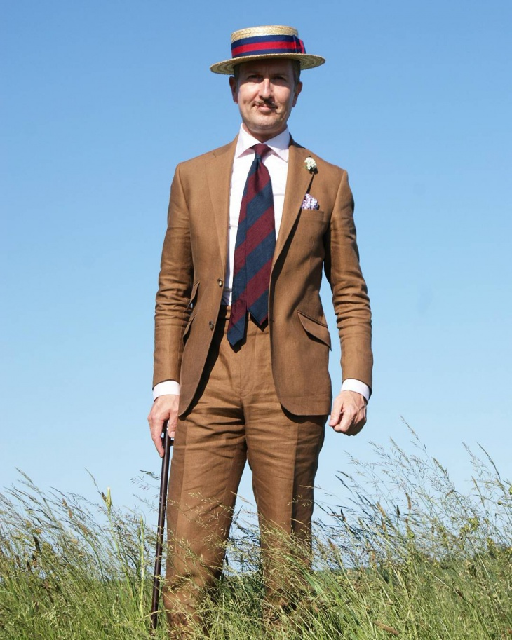 vintage mens linen suit design
