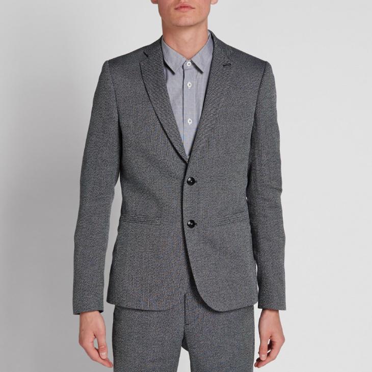 navy ecru mens casual suit design