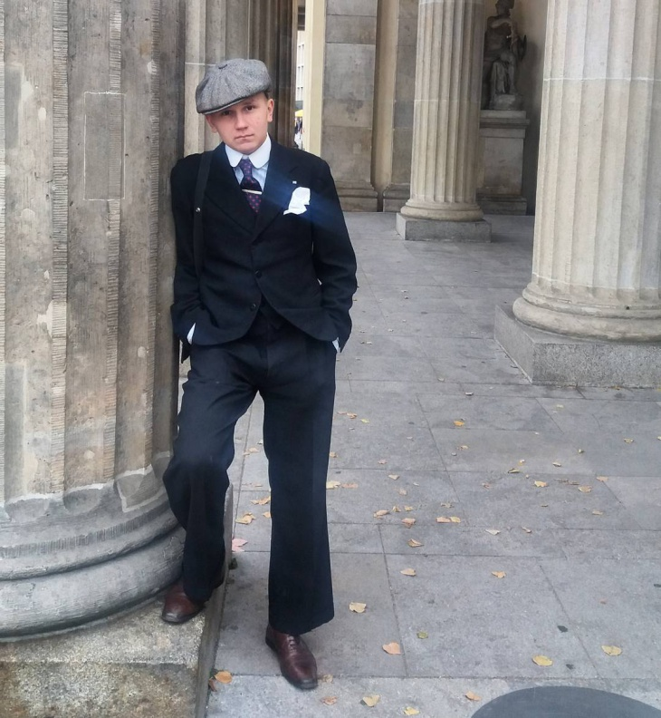 classic vintage suit design for men