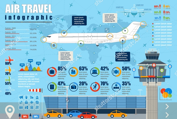 Air Travel Infographic Design