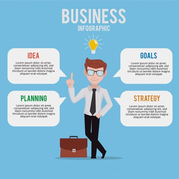 Colored Business Infographic Design