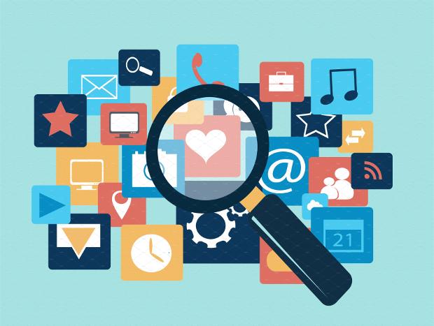 flat social media infographic design