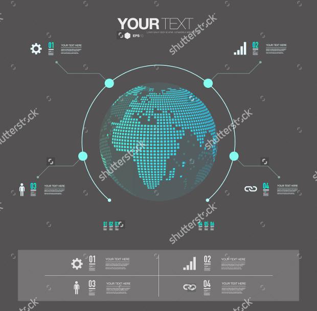3d modern infographic design
