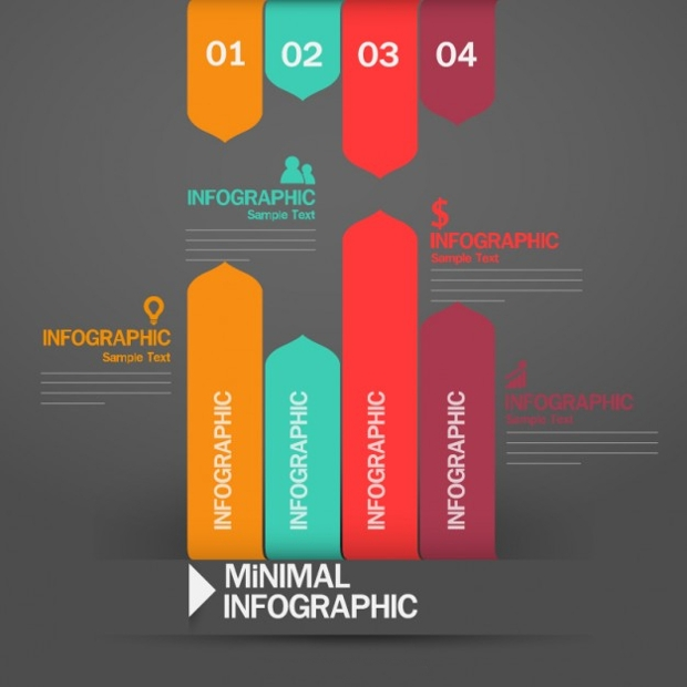 Colorful Minimal Infographic Design