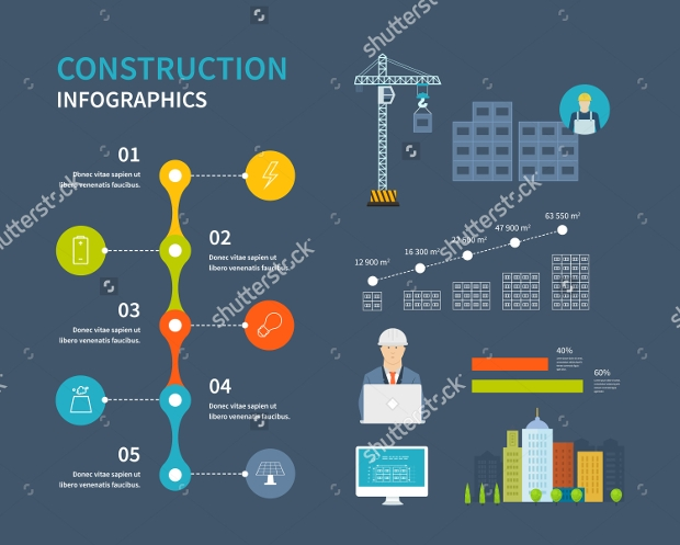 Building Construction Infographic Design