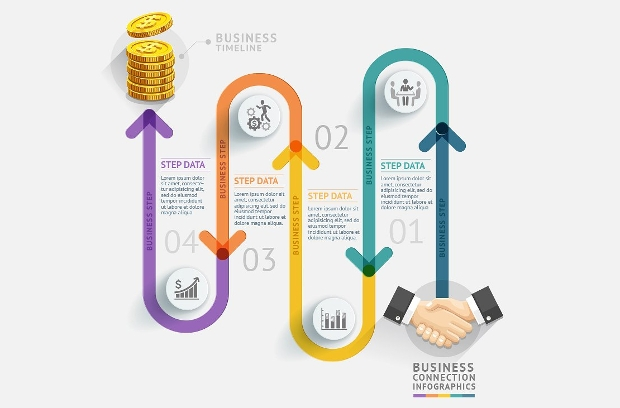 Business Timeline Infographic Design