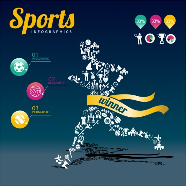 Sports Champion Infographic Design