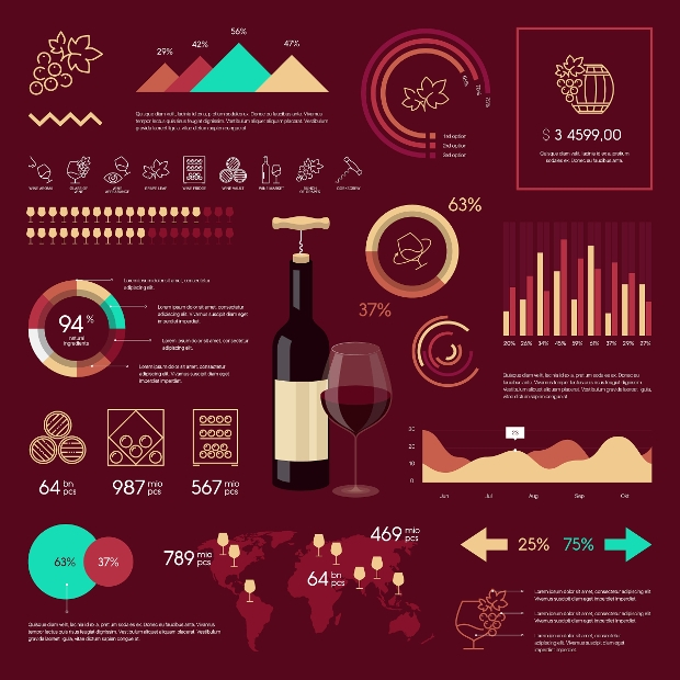 High Quality Wine Infographic Design