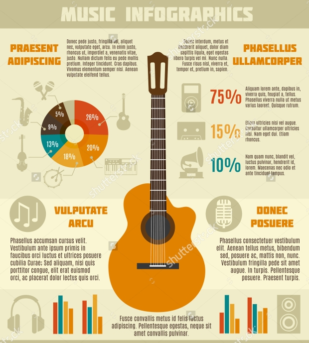 Vintage Music Infographic Design