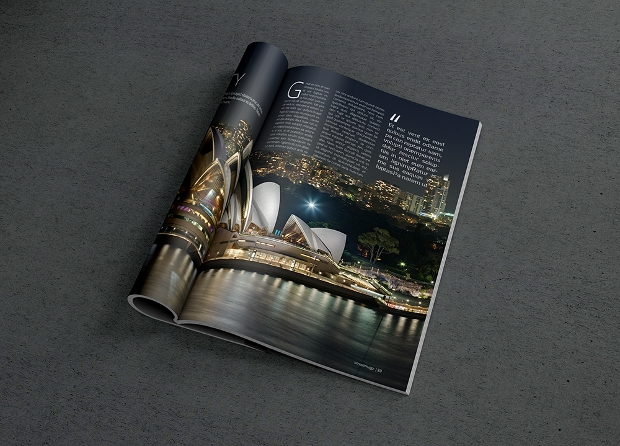 single page magazine mockup