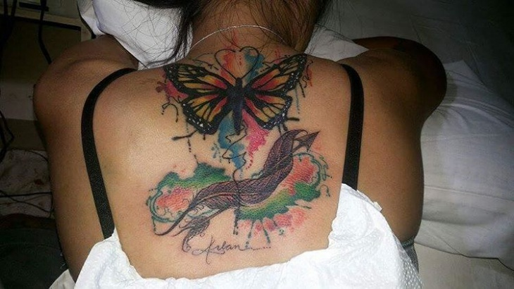 feather arrow tattoo for back1