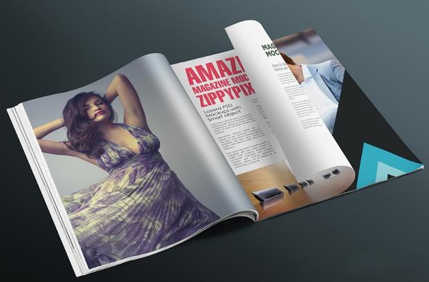 editable magazine mockup