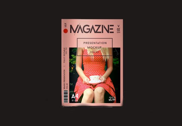 a4 psd magazine mockup