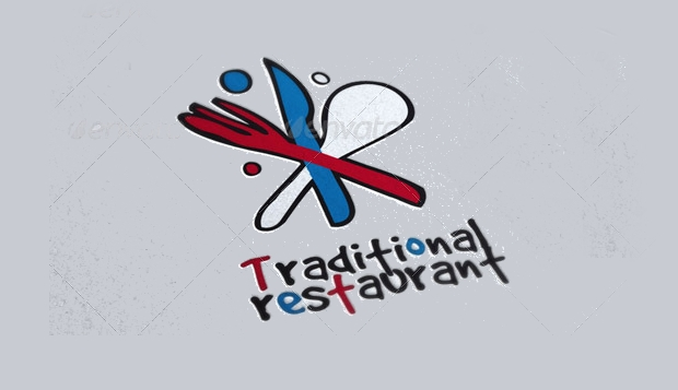 traditional restaurant logo