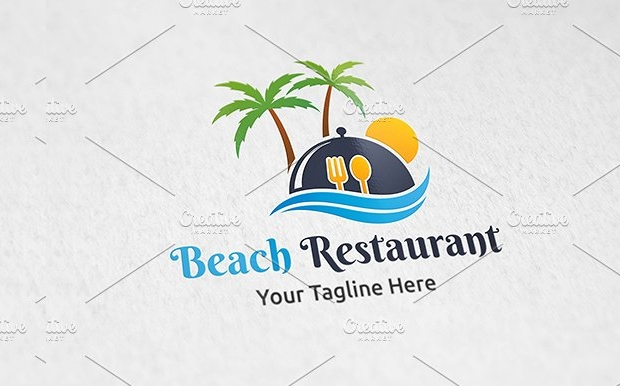 Beach Restaurant Logo