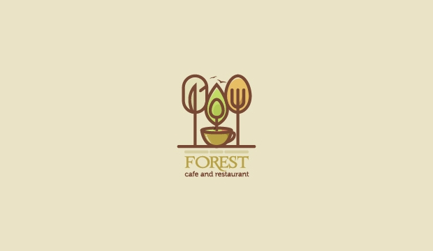 Forest Cafe Restaurant Logo