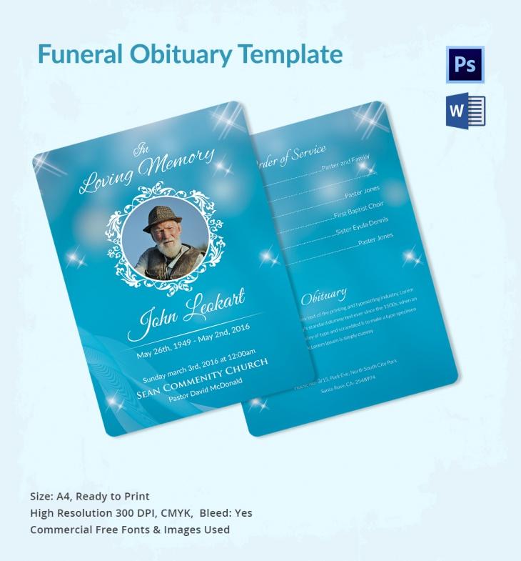 5 funeral obituary templates  u2013 free word  pdf  psd