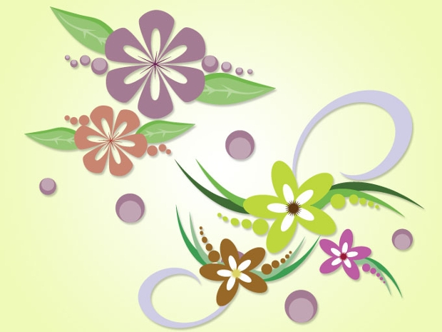 Decorative Floral Vector Design