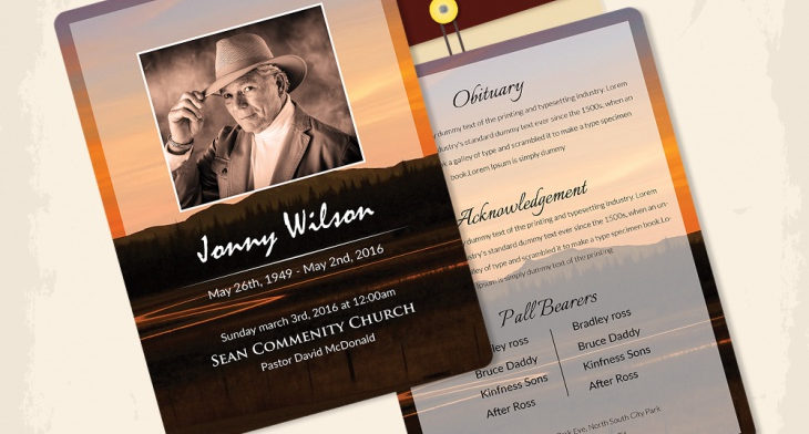 5 Funeral Obituary Templates – Free Word, PDF, PSD Documents ...