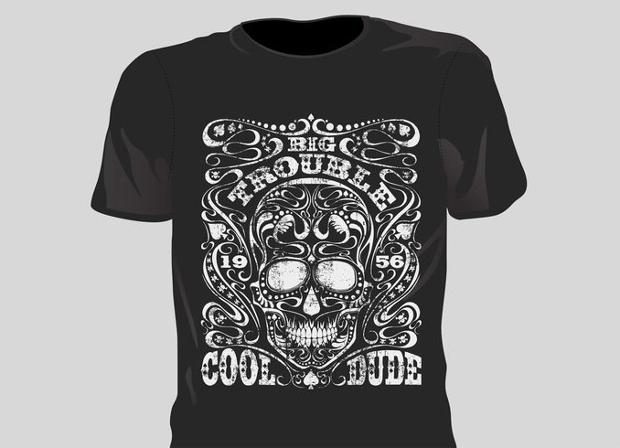 Grunge T Shirt Vector