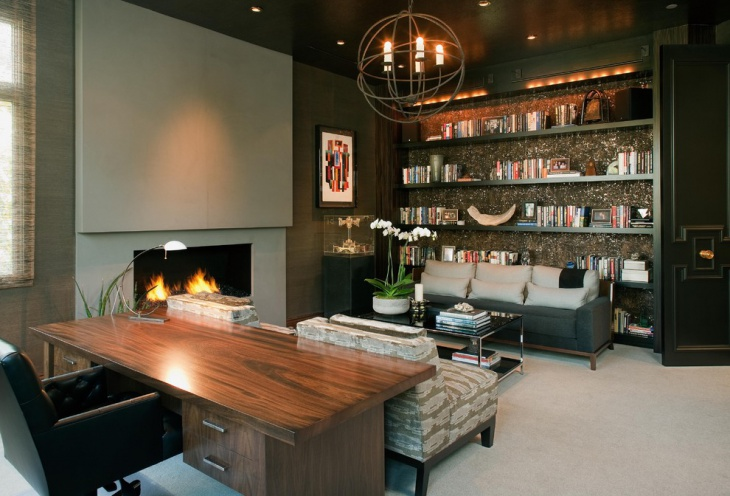 Modern Masculine Home Office Design