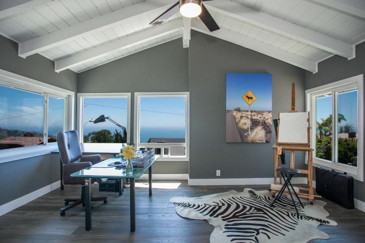 dark gray home office design