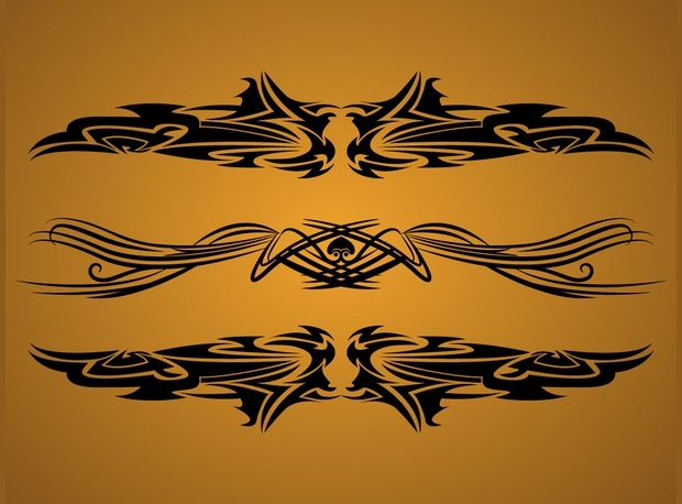 Black Tribal Vector Design