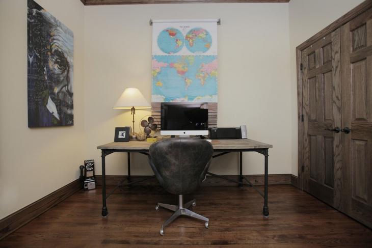 vintage industrial home office design