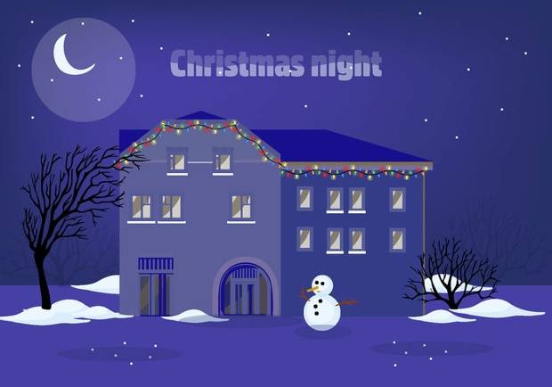 Christmas Night Vector Design