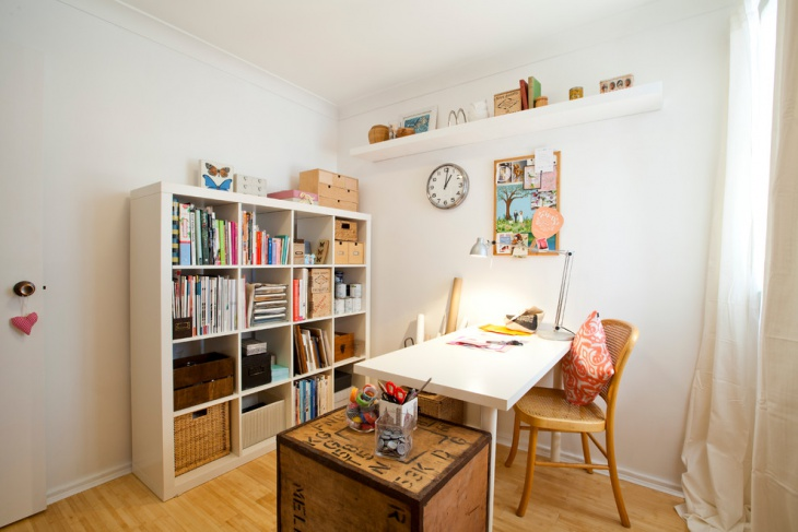 whiite eclectic home office