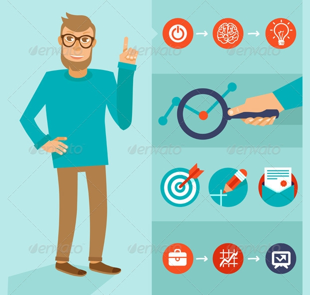 Flat Style Character Vector Design