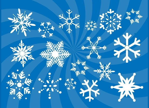 Blue Snow Flake Vectors