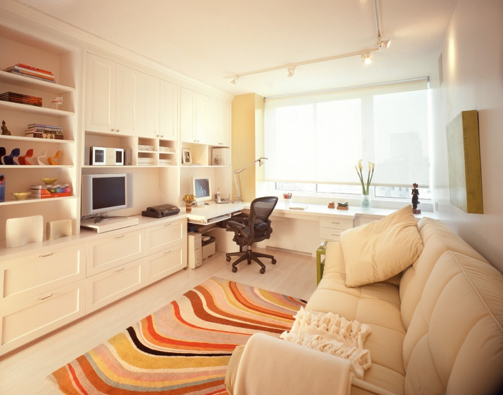 contemporary built in home office