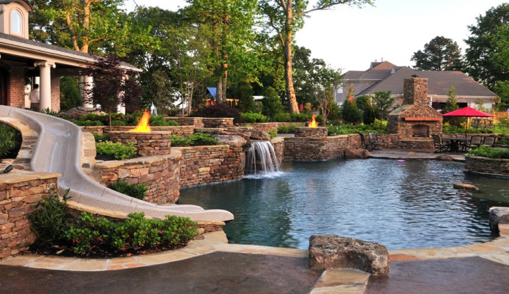 traditional backyard pool design